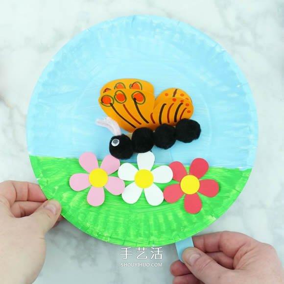 春天飛舞的蝴蝶!用紙盤做能動的兒童玩具