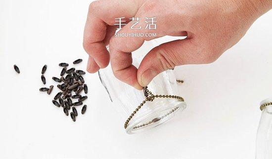 迷人的吊灯装饰!枯枝和玻璃罐的再利用DIY -  www.shouyihuo.com