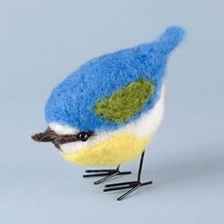 春天的使者!漂亮羊毛毡蓝山雀的制作教程