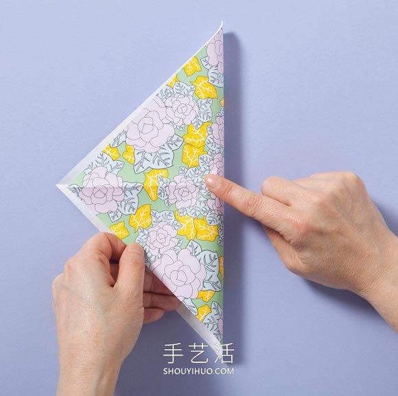 简单的收纳盒折纸教程 四四方方很好看! -  www.shouyihuo.com