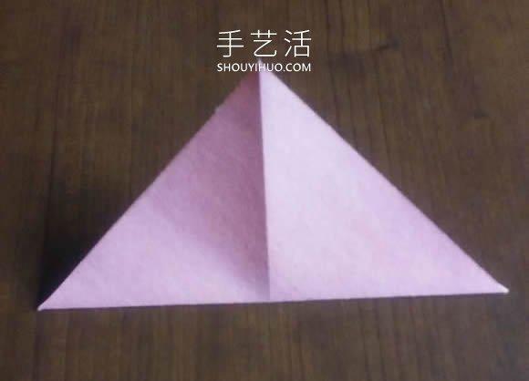 可以组合出复杂款!简单平面玫瑰花的折纸教程 -  www.shouyihuo.com