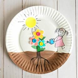 春天有趣手工艺品制作 让孩子种出美丽小花!