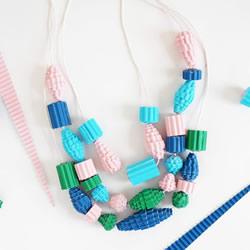 瓦楞纸制作串珠项链 简单DIY创意个性饰品!