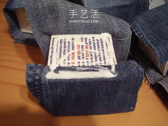舊牛仔褲改造多功能收納櫃 帶抽屜和側邊袋!