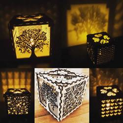 爱情盒投射灯-自制情人节礼物的教程