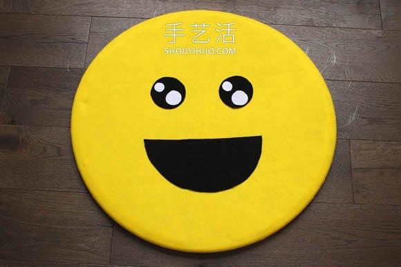 不織布笑臉表情DIY!社交派對最合適的裝飾
