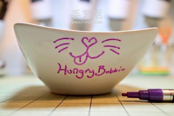 用陶瓷笔画一只食物碗 随时掌握猫咪小心情! -  www.shouyihuo.com
