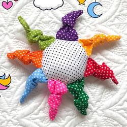 彩虹太阳主题!超可爱布艺婴儿玩具制作教程
