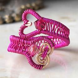 超美金属绕线编织戒指教程 含视频和图解!