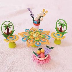 衍纸教程:超美的桌椅、水果篮和花瓶