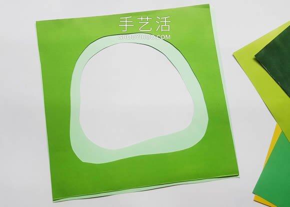 超详细3D立体纸雕教程图解:丛林里的无脸人 -  www.shouyihuo.com