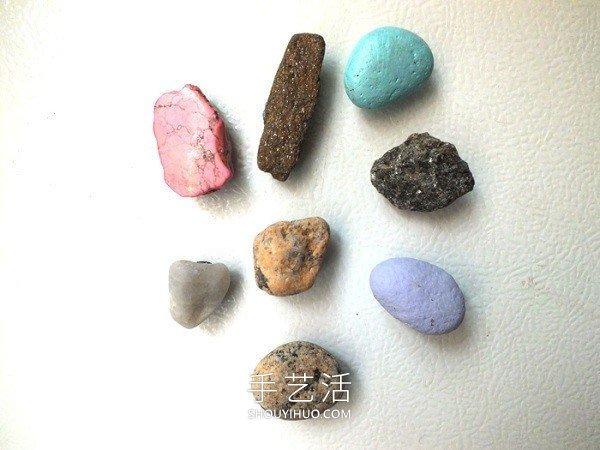 海边捡回的石头再利用 DIY制作创意冰箱贴! -  www.shouyihuo.com