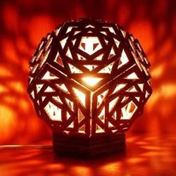 自制几何球形灯!超美纸板灯饰手工制作教程