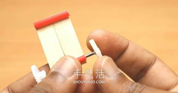 DIY迷你电动车玩具视频!通过齿轮进行传动 -  www.shouyihuo.com