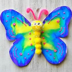 鲜艳而美丽!幼儿手工制作春天蝴蝶的教程