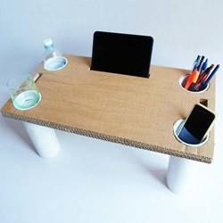 自制多功能床桌的方法 用纸板都不用花钱!