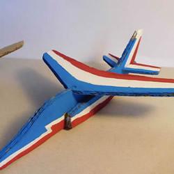 硬纸板手工制作阿尔法喷气机的做法视频