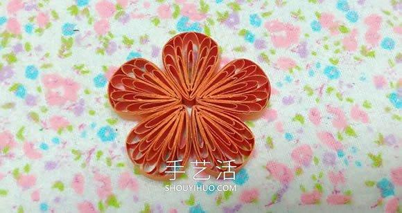 用梳子也能做!简单可爱衍纸五瓣花手工制作 -  www.mutamen.cn