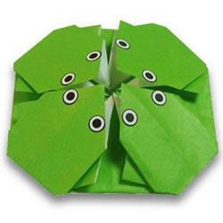 超简单夏天折纸!只用一张纸折出4个小青蛙