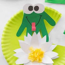 荷塘里的小青蛙!超可爱幼儿园夏天手工制作