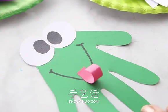 荷塘里的小青蛙!超可爱幼儿园夏天手工制作 -  www.shouyihuo.com