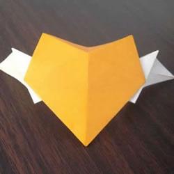 只用一张纸完成!双色翅膀心的折法图解