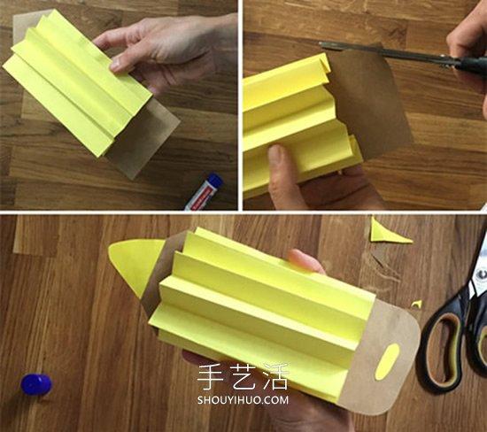用纸做可爱的彩色铅笔 很棒的教师节礼物! -  www.shouyihuo.com