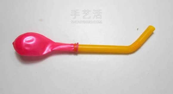 一个气球和一根吸管 手工制作气球动力小车! -  www.shouyihuo.com