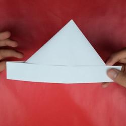 打扫卫生时戴头上!简单三角形帽子的折法