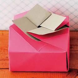 自制用来放饼干/蛋糕的包装盒 折纸来搞定!