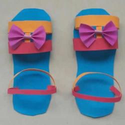 可爱又能穿!幼儿园手工制作夏天凉拖鞋