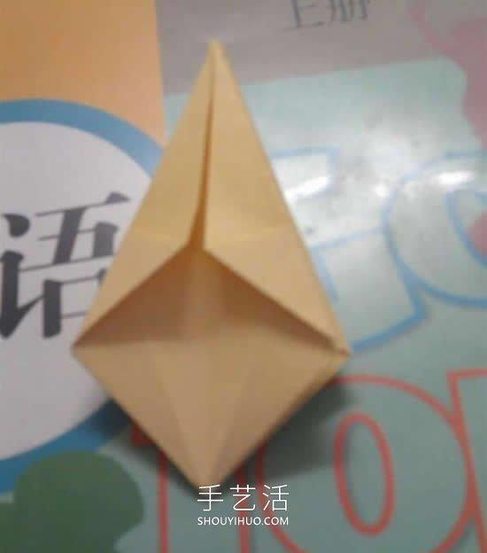 简单又漂亮!手工折纸花型垃圾盒的视频教程 -  www.shouyihuo.com