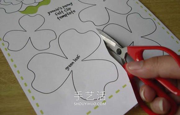 新手也能学会!自制简单毡布花朵发箍的方法 -  www.shouyihuo.com