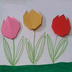 简单容易学!儿童手工折纸郁金香的视频教程