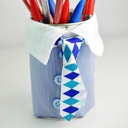 送给爸爸的父亲节礼物!自制创意笔筒的方法