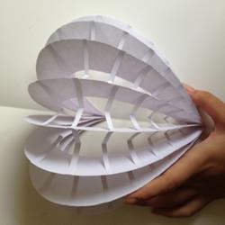 卡纸手工制作立体心形卡片的做法图解