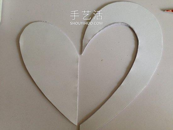 卡纸手工制作立体心形卡片的做法图解 -  www.shouyihuo.com