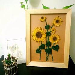 衍纸向日葵装饰画手工制作方法教程