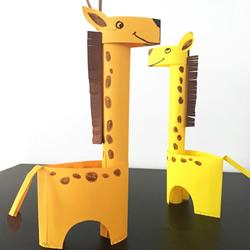 幼儿园手工制作立体长颈鹿的做法图解