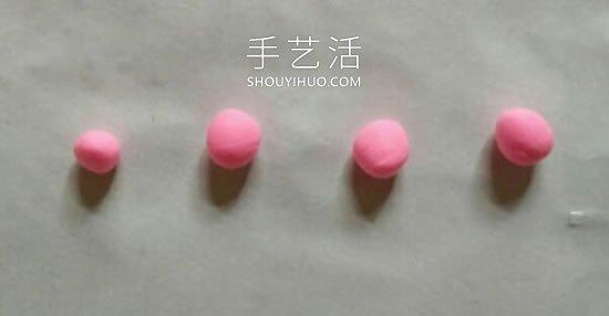 超轻粘土手工制作玫瑰花头绳的做法图解 -  www.shouyihuo.com