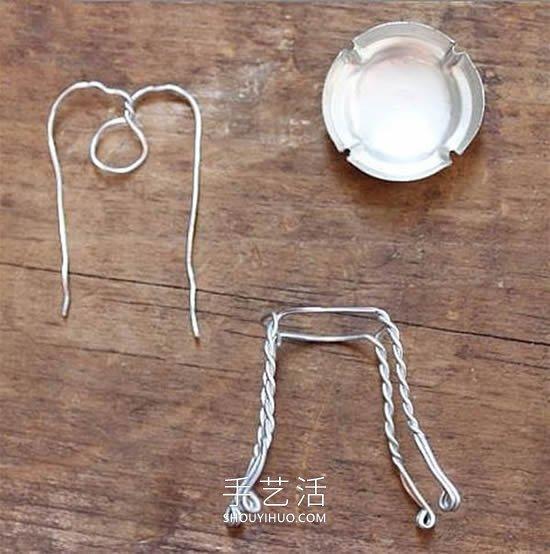 瓶盖废物利用 DIY制作迷你椅子的教程 -  www.shouyihuo.com