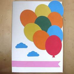 天空中的节日气球!自制漂亮贺卡的方法教程