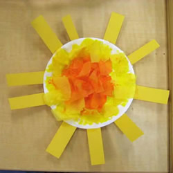 最简单手工制作纸盘太阳的做法教程