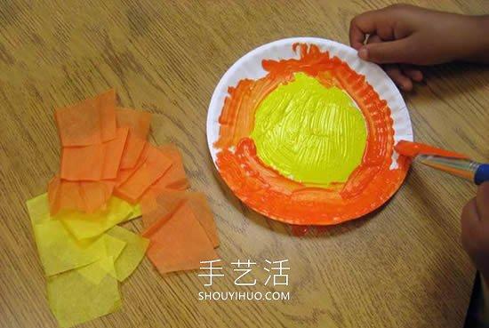 最简单手工制作纸盘太阳的做法教程 -  www.shouyihuo.com