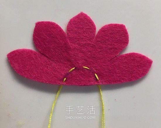 美丽夺目!不织布手工制作花朵头花的方法 -  www.shouyihuo.com