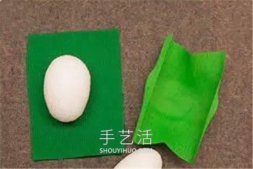 皱纹纸手工制作开花的仙人掌的做法教程 -  www.shouyihuo.com