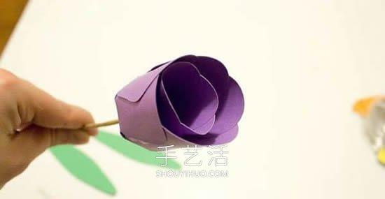 幼儿园教师节礼物!卡纸手工制作郁金香花 -  www.shouyihuo.com