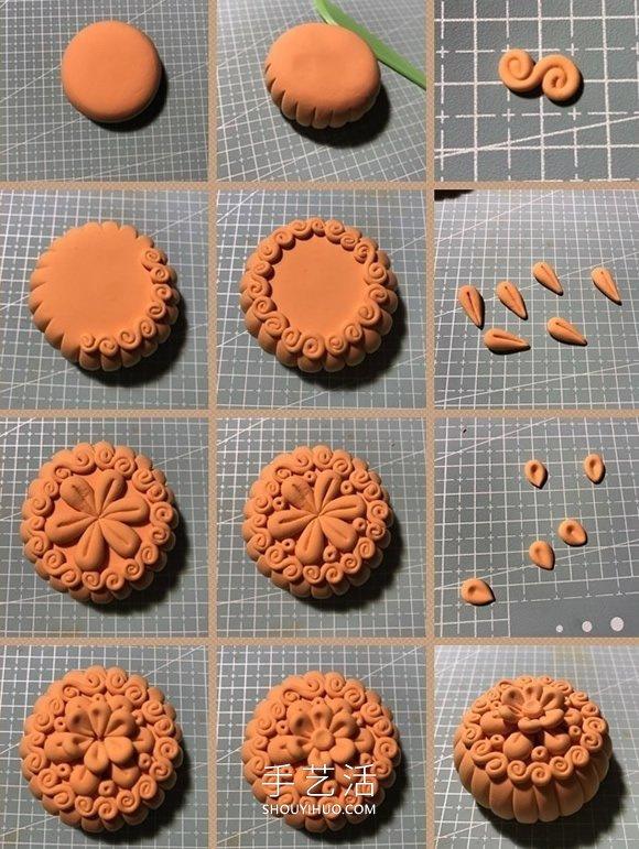 以假乱真!有趣的中秋节粘土月饼制作图解 -  www.shouyihuo.com