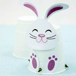 自制会跳的兔子!简单又有趣的纸杯手工制作