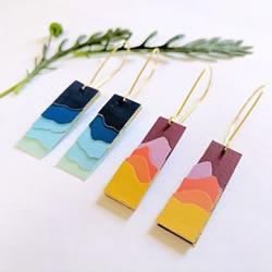 卡纸手工制作创意景观剪影耳环的教程